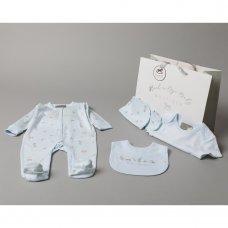 S18933: Baby Boys Toy Box  6 Piece Mesh Bag Gift Set (NB-6 Months)