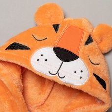 S18948: Baby 3D Tiger Fleece Onesie/All In one (0-12 Months)