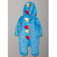 S18953: Baby 3D Dinosaur Fleece Onesie/All In one (0-12 Months)