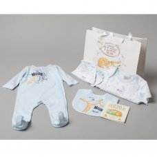 S18967: Baby Boys Guess How Much I Love You 7 Piece Mesh Bag Gift Set With Book (NB-6 Months)