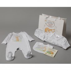 S18970: Baby Unisex Guess How Much I Love You 7 Piece Mesh Bag Gift Set With Book (NB-6 Months)