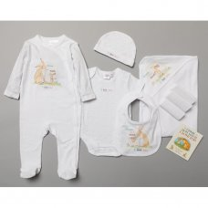 S18982: Baby Unisex Guess How Much I Love You 10 Piece Mesh Bag Gift Set With Book (NB-3 Months)