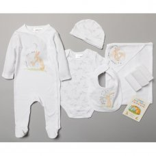 S18983: Baby Unisex Guess How Much I Love You 10 Piece Mesh Bag Gift Set With Book (NB-6 Months)