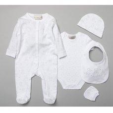 S19071: Baby Unisex Bears  6 Piece Mesh Bag Gift Set (NB-6 Months)