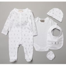 S19124: Baby Unisex Toy Box  6 Piece Mesh Bag Gift Set (NB-6 Months)
