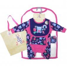 S19125: Baby Girls Animals 6 Piece Mesh Bag Gift Set