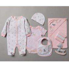 S19204: Baby Girls Unicorn 10 Piece Mesh Bag Gift Set (NB-6 Months)
