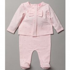 S19367: Baby Girls Flock Star Print Top & Bottom Outfit (0-9 Months)