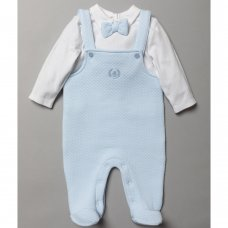 S19379: Baby Boys Quilted Dungaree & Top Outfit (0-9 Months)