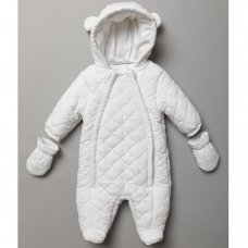 S19475: Baby Unisex, Cotton Lined, Quilted Snowsuit (0-12 Months)
