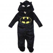 S19486: Baby Batman Plush Fleece Onesie/All In one (0-9 Months)