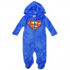 S19487: Baby Superman Plush Fleece Onesie/All In one (0-9 Months)