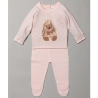 S19515: Baby Girls Bunny Knitted 2 Piece Outfit (0-9 Months)