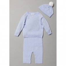 S19517: Baby Boys True Knit Cable 3 Piece Outfit (0-9 Months)