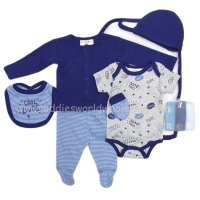 S19539: Baby Boys Cool Dude  10 Piece Mesh Bag Gift Set (0-9 Months)