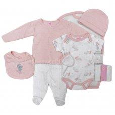 S19540: Baby Girls Ballerina 10 Piece Mesh Bag Gift Set (0-9 Months)