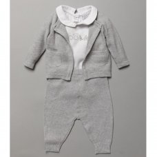S19546: Baby Unisex True Knit Cable 3 Piece Outfit (0-12 Months)