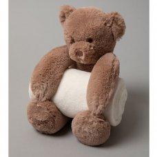 S19623: Baby 27cm Bear Soft Toy & Blanket Set