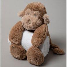 S19626: Baby 27cm Monkey Soft Toy & Blanket Set