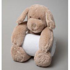 S19627: Baby 27cm Puppy Soft Toy & Blanket Set