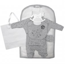 S19634: Baby Boys Space  6 Piece Mesh Bag Gift Set (NB-6 Months)
