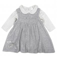 S19666: Baby Guess How Much I Love You Velour Dress & Bodysuit Outfit  (0-9 Months)