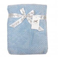 S19754: Baby Sky Textured Fleece Blanket