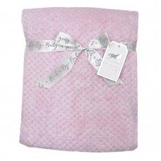 S19755: Baby Pink Textured Fleece Blanket