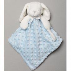 S19758: Baby Bunny Bubble Velour Comforter- Sky