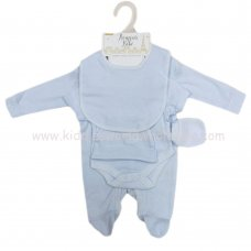 S19986: Baby Plain Sky 5 Piece Mesh Bag Gift Set (NB-6 Months)