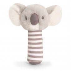 SE6712: 14cm Keeleco Cozy Koala Stick Rattle (100% Recycled)