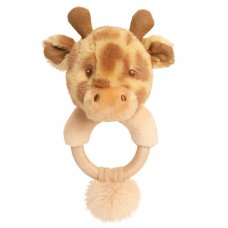 SE6719: 14cm Keeleco Huggy Giraffe Ring Rattle (100% Recycled)
