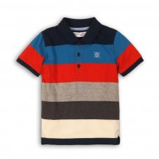 Shore 12: Textured Y/D Stripe Polo Top (9 Months-3 Years)