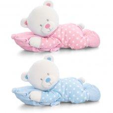 SN0774: 30cm Baby Bear On Pillow (2 Colours)
