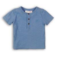 1HENLEY 8P: Boys Denim Blue Slub Henley Top (3-8 Years)