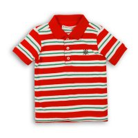 1POLOST 5: Boys Striped Polo Tee (9 Months-3 Years)