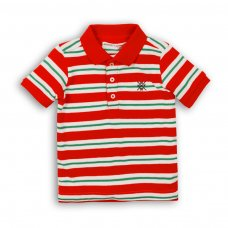 1POLOST 5P: Boys Striped Polo Tee (3-8 Years)