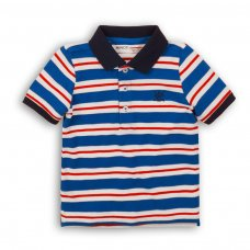 1POLOST 6P: Boys Striped Polo Tee (3-8 Years)