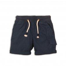 1PSHORT 6P: Boys Navy Poplin Short (3-8 Years)