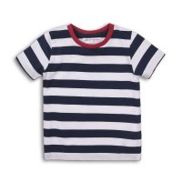 1STRIPE 2: Boys Crew Stripe Tee (9 Months-3 Years)