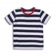 1STRIPE 2P: Boys Crew Stripe Tee (3-8 Years)