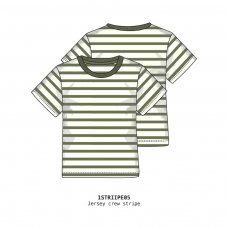 1STRIPE 5P: Boys Crew Stripe Tee (3-8 Years)