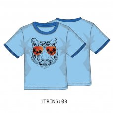 1TRING 3: Boys Tiger Ringer Tee (9 Months-3 Years)