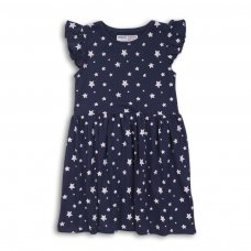 2KDRESS10P: Girls Stars Jersey Dress (8-13 Years)