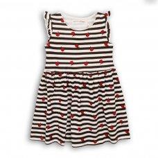 2KDRESS11P: Girls Roses Stripes Jersey Dress (8-13 Years)