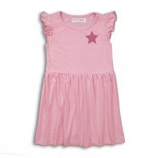 2KDRESS14P: Girls Bright Pink Jersey Dress (8-13 Years)