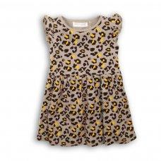 2KDRESS15P: Girls Leopard Print Jersey Dress (8-13 Years)