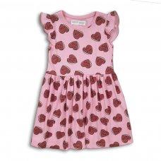 2KDRESS09: Girls Aop Hearts Jersey Dress (3-8 Years)