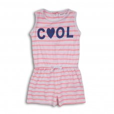 2KSPS14: Girls Cool Stripe Playsuit (3-8 Years)