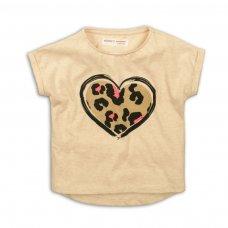 2KTEE18P: Girls Leopard Heart Graphic Tshirt (8-13 Years)